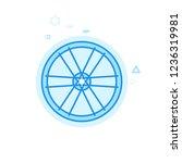bike rim and spokes flat vector ...