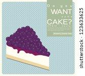 blueberry cheese cake vector...   Shutterstock .eps vector #123633625