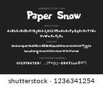 handmade font  alphabet and... | Shutterstock .eps vector #1236341254