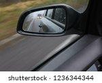 reflection of traffic flow in... | Shutterstock . vector #1236344344