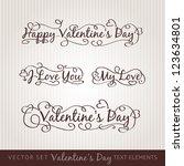 happy valentine's day hand...   Shutterstock .eps vector #123634801