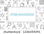 stem education horizontal frame ... | Shutterstock .eps vector #1236354391