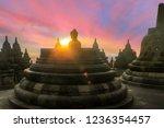 candi borobudur or borobudur...   Shutterstock . vector #1236354457