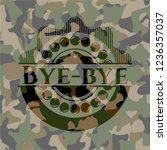 bye bye on camouflage texture | Shutterstock .eps vector #1236357037
