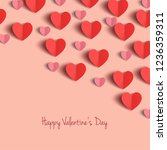 paper hearts for valentine's...   Shutterstock .eps vector #1236359311