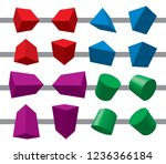 3d geometric shapes and... | Shutterstock .eps vector #1236366184