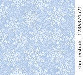 this is a winter seamless... | Shutterstock .eps vector #1236374521