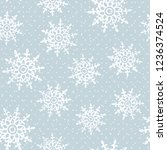 this is a winter seamless... | Shutterstock .eps vector #1236374524