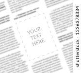 close up of a blurred newspaper ... | Shutterstock . vector #1236378334