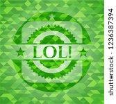 lol  green emblem with mosaic...   Shutterstock .eps vector #1236387394