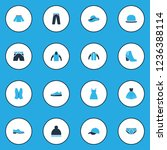 garment icons colored set with... | Shutterstock .eps vector #1236388114