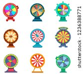 spinning wheels of fortune with ... | Shutterstock .eps vector #1236388771