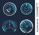 automobile modern speedometer... | Shutterstock .eps vector #1236388777