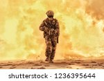 army soldier in military... | Shutterstock . vector #1236395644