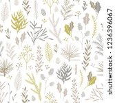 vector hand drawn floral... | Shutterstock .eps vector #1236396067