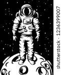 illustration of astronaut on...   Shutterstock .eps vector #1236399007