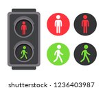pedestrian traffic light with... | Shutterstock .eps vector #1236403987