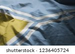 tuva flag rumpled close up  | Shutterstock . vector #1236405724