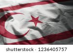 northern cyprus flag rumpled... | Shutterstock . vector #1236405757