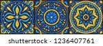 moroccan ceramic tile pattern.... | Shutterstock .eps vector #1236407761