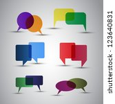 speech bubbles | Shutterstock .eps vector #123640831