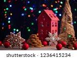 gingerbread cookies for... | Shutterstock . vector #1236415234