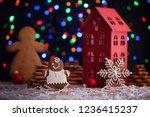 gingerbread cookies for... | Shutterstock . vector #1236415237