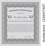 grey sample certificate. money... | Shutterstock .eps vector #1236417607