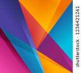 colorful background vector... | Shutterstock .eps vector #1236421261