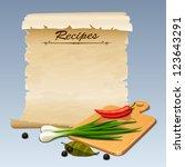 Recipes icon - stock vector