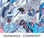 art poster. artistic creative... | Shutterstock . vector #1236444247