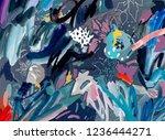 art poster. artistic creative... | Shutterstock . vector #1236444271
