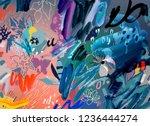 art poster. artistic creative...   Shutterstock . vector #1236444274