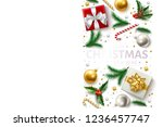 merry christmas  happy new year ... | Shutterstock .eps vector #1236457747