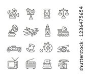retro related icons  thin... | Shutterstock .eps vector #1236475654