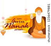 illustration of guru nanak...   Shutterstock .eps vector #1236479881