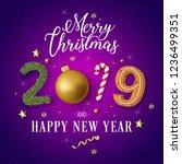 merry christmas text design.... | Shutterstock .eps vector #1236499351