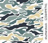 camouflage pattern background... | Shutterstock .eps vector #1236499741