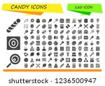 vector icons pack of 120 filled ... | Shutterstock .eps vector #1236500947