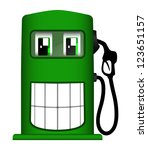 illustration of cheerful gas... | Shutterstock . vector #123651157
