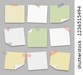 collection of note paper on... | Shutterstock .eps vector #1236515494
