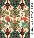 seamless tropical pattern.... | Shutterstock .eps vector #1236517594