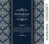 decorative wedding invitation... | Shutterstock .eps vector #1236522871