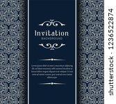 decorative wedding invitation... | Shutterstock .eps vector #1236522874