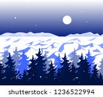 winter panoramic landscape with ... | Shutterstock .eps vector #1236522994