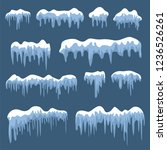 snow caps  snowballs and... | Shutterstock .eps vector #1236526261