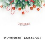 christmas background. happy new ... | Shutterstock . vector #1236527317