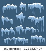 snow caps  snowballs and... | Shutterstock .eps vector #1236527407