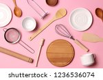 different kitchenware  on a... | Shutterstock . vector #1236536074
