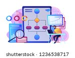 analyst working at laptop with... | Shutterstock .eps vector #1236538717